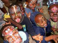 Peace Matunda Children with painted faces